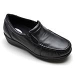 Sapato Feminino Mocassim Comfort Anatomico Preto