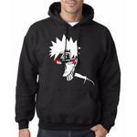 Blusa de Moletom Canguru Preto Naruto Shippuden