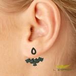 EAR JACKET DE ZIRCONIA JTBK