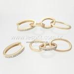 Brinco Argola Zircônia Lesprit 00024 Dourado Cristal