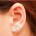 Brinco Ear Cuff Zircônia Lesprit LB14741WCL Ródio Cristal