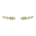 Brinco Ear Cuff Zircônia Lesprit LB21541WGL Dourado Cristal