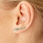 Brinco Ear Cuff Zircônia Lesprit LB21541 Rosé Morganita