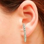 Brinco Ear Hook Metal Lesprit 37603/03 Ródio