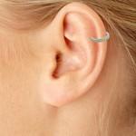 Brinco Piercing de Pressão Zircônia Lesprit 59772 Ródio Cristal