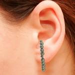 Brinco Ear Hook Metal Lesprit 37603/03 Ródio Negro