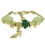 Pulseira Beloque Cristal Lesprit K03882-51000 Dourado Verde