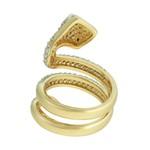 Anel Cobra Zircônia Lesprit Dourado Cristal