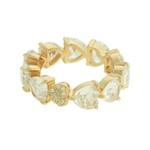 Anel Zircônia Lesprit LA09341 Dourado Cristal