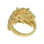 Anel Zircônia Lesprit LA09371WGL Dourado Cristal