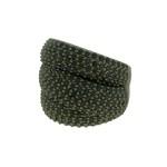 Anel Zircônia Lesprit LA05561BOBK Ródio Negro Preto
