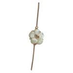 Colar Flor de Madrepérola e Zircônia Lesprit LC10011MORRS Rosé Morganita