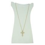Colar Crucifixo Madrepérola Zircônia Lesprit LC03981WCOGL Dourado Cristal