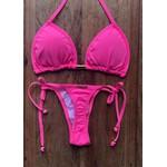 Biquíni Cortininha Karibe Rosa Neon