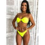 Biquíni Concha Larissa Amarelo Neon