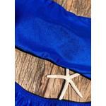 Biquíni Bertioga Larissa Fio Azul Metálico Cirre