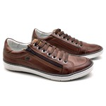 Sapatos CASUAL Masculino de Couro BMBRASIL SAPATENIS 608/05 BROWN