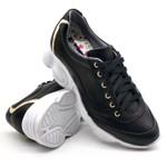 Tenis Dad Sneaker Chunky Feminina Bm Brasil 251/03 Preto