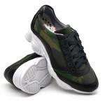 Tenis Dad Sneaker Chunky Feminina Bm Brasil 251/04 Camuflado