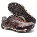 Sapatos Casual Ortopédico Porshe Alanta 132/11 BROWN
