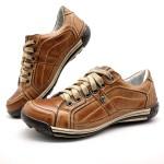 Sapatos Casual Porshe Palmilha Ortopédica 147/01 Caramelo