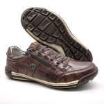 Sapatos Casual Zíper e Elástico Palmilha Ortopédica 148/03 Brown