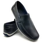 Sapato Masculino Mocassim Sapatilha Sider Couro Bm Brasil 175/03 Preta
