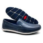 Sapato Masculino Mocassim Sapatilha Sider Couro Bm Brasil 175/10 Azul