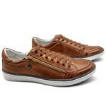Sapatos CASUAL Masculino de Couro BMBRASIL SAPATENIS 608/14 Caramelo