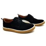 Sapato Masculino Cano e Gáspea de camurça Bmbrasil 890/03 PRETO