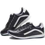 Sapatenis Tênis Casual Couro Jogger Jogging Masculino 2801/01