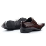Sapato Social Com Cadarço Solado De Borracha Mouro 363 Mouro