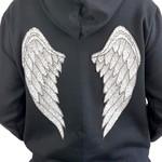 Moletom Preto, Angel Wing.