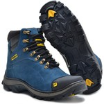 Bota Caterpillar 2160 - Azul + Chinelo FreeTime Cat - Café