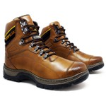 Bota Caterpillar 2061 - Avelã + Chinelo Cat Amarelo