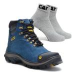 Bota Caterpillar 2160 - Azul + Meia Cat