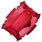 Kit Bolsa + Carteira Victória Croco Vermelha