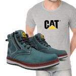 Bota Zip One - Cinza + Camiseta Cinza