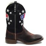 Bota Texana Masculina Touro do Texas em Couro Legítimo Bico Quadrado