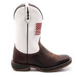 Bota Texana Masculina Bandeira Estados Unidos Vermelha