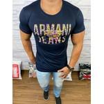 Camiseta Armani Azul Marinho estampada