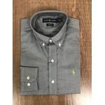 Camisa Manga Longa Ralph Lauren - Cinza Logo Verde