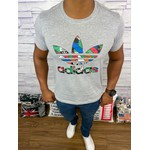 Camiseta Adidas - Cinza