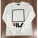 Camiseta Manga Longa Fila - Creme