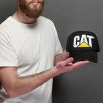 Boné CAT Trucker - Preto