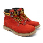 Bota Caterpillar Second Shift - Vermelho
