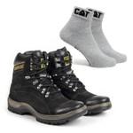 Bota Caterpillar 2061 - Preto + Meia Cat