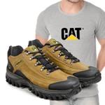 Tênis Caterpillar 2085 Milho + Camiseta Cinza CAT