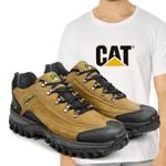 Tênis Caterpillar 2085 Milho + Camiseta CAT