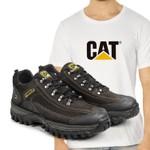 Tênis Caterpillar 2085 - Café + Camiseta Cat